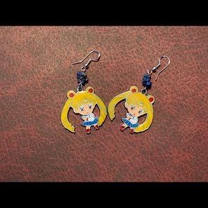 3/$30 Sodalite Sailor Moon Earrings